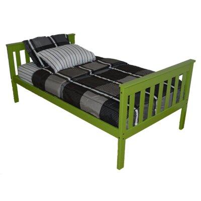 Mission Bed Bed Frame Color: Lime, Size: Full