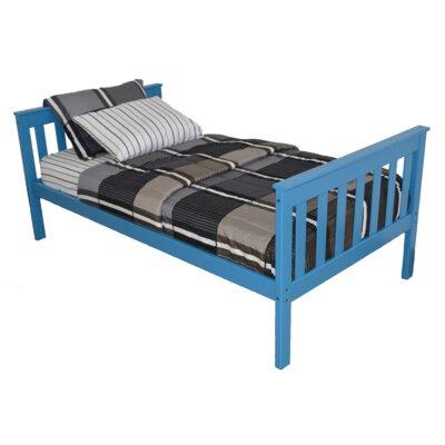 Mission Bed Bed Frame Color: Carribean Blue, Size: Full