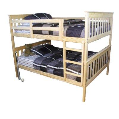 Mission Bunk Bed Bed Frame Color: Unfinished, Size: Twin Over Full Mission Bunkbed