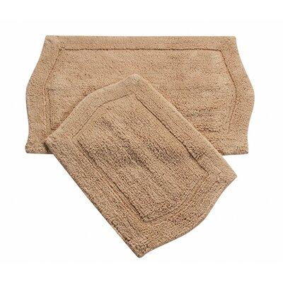 Shera 2 Piece Bath Rug Set Color: Linen