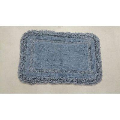 "Westlake Bath Rug Color: Blue, Size: 17"" W x 24"" L"