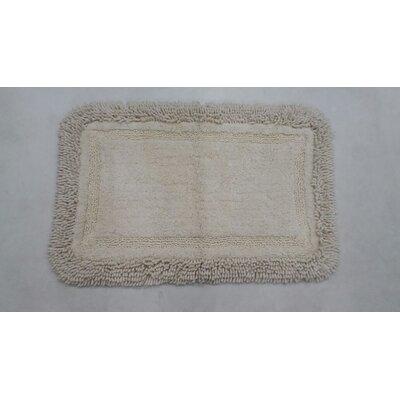 """Westlake Bath Rug Color: White, Size: 17"""" W x 24"""" L"""