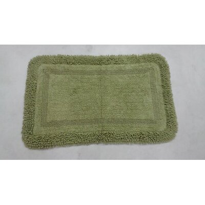 "Westlake Bath Rug Color: Green, Size: 17"" W x 24"" L"