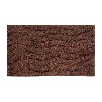 "Artesia Bath Rug Color: Chocolate, Size: 17"" W x 24"" L"
