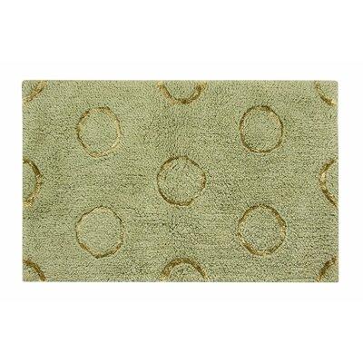"""Delano Bath Rug Size: 21"""" W x 34"""" L, Color: Green"""