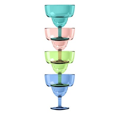 Fisher Stacking 4 Piece Plastic Cocktail Glass Set