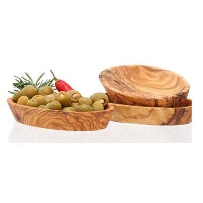 Olivenholz erleben 3-tlg. Schalenset