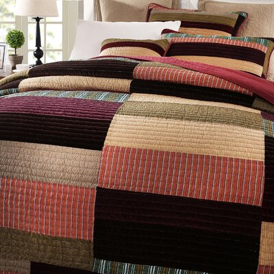 Classical Reversible Real Patchwork Striped Quilt