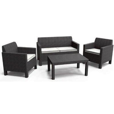 Allibert Orlando 5 Seater Sofa Set with Cushions