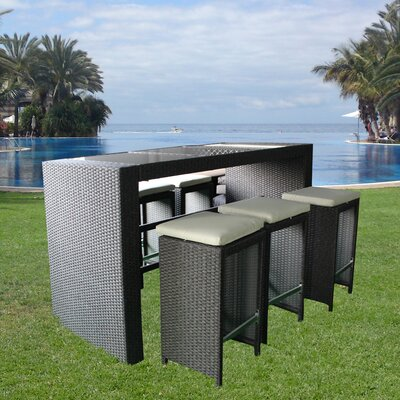 Brundle Gardener 6 Seater Bar Table Set with Cushions
