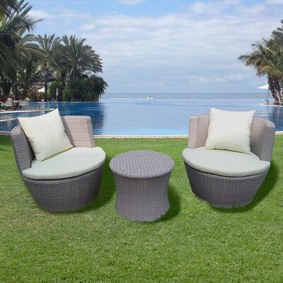 Brundle Gardener 2 Seater Sofa Set with Cushions