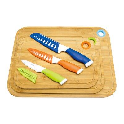9 Piece Bamboo Cutting Board Set