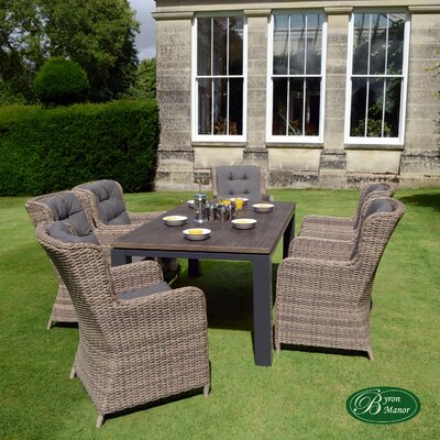 Byron Manor Lulworth 6 Seater Dining Set with Cushions