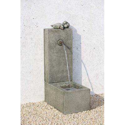 Concrete Bird Element Fountain Finish: Travertine
