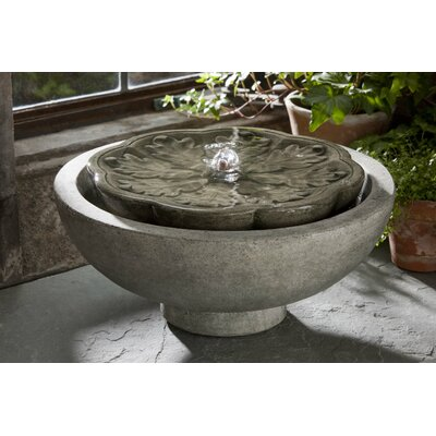 Garden Terrace Concrete Flores Fountain Finish: Aged Limestone