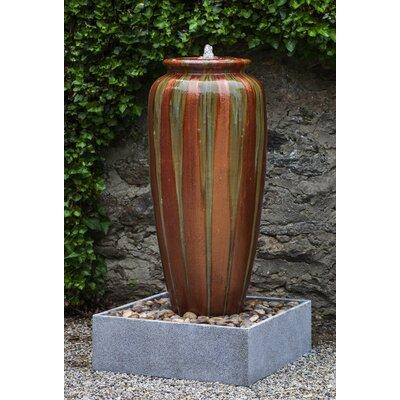 Pacifica Catinat Glazed Terracotta Jar Fountain