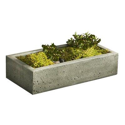 """Garden Terrace Cast Stone Planter Box Color: Copper Bronze, Size: 5"""" H x 22"""" W x 11"""" D"""