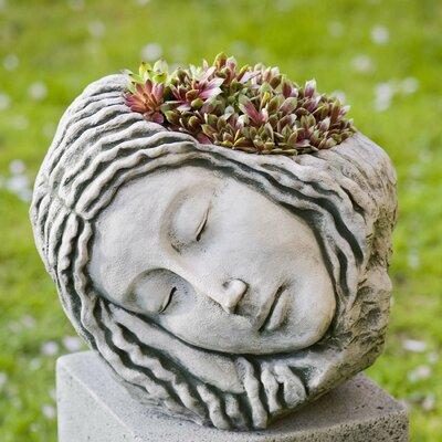 Sleeping Maiden Cast Stone Statue Planter Color: Ferro Rustico Nuovo