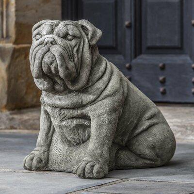 Antique Bulldog Statue Color: Travertine