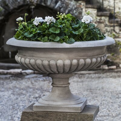 Cast Stone Urn Planter Color: Natural