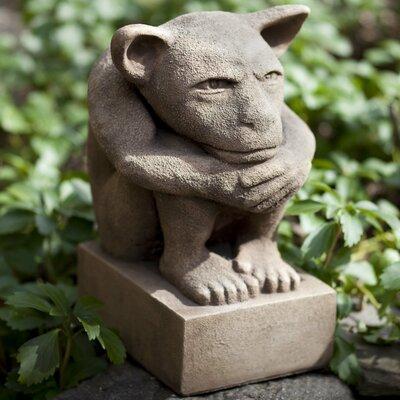 Sitting Gargoyle Statue Color: Aged Limestone