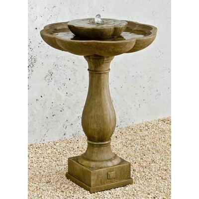 Flores Concrete Pedestal Fountain Finish: Alpine Stone