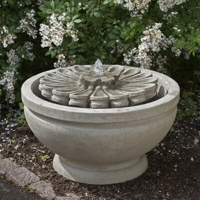 Fleur Concrete Fountain Finish: Aged Limestone