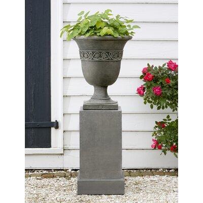 Williamsburg Novelty Pedestal Cast Stone Urn Planter Color: Ferro Rustico Nuovo