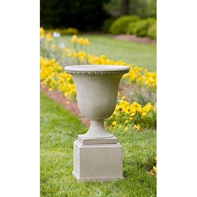 Williamsburg Pedestal Cast Stone Urn Planter Color: Ferro Rustico Nuovo