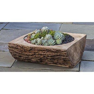 Split Log Cast Stone Planter Box Color: Ferro Rustico Nuovo