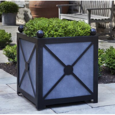 "Villandry Square Clay Planter Box Size: 23"" H x 20.5"" W x 20.5"" D"