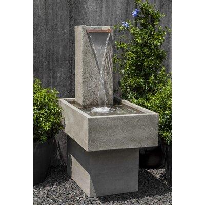 Concrete Falling Water Fountain Finish: Travertine