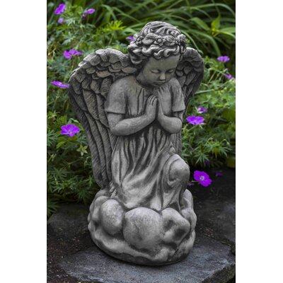 Angel's Prayer Statue Color: Aged Limestone