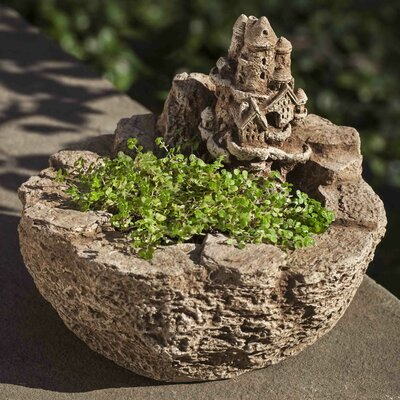 Castle Keep Cast Stone Statue Planter Color: Greystone