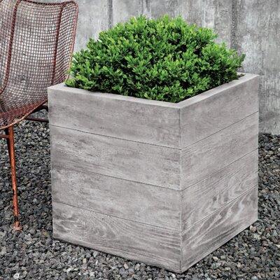 "Chnes Brut Cast Stone Planter Box Size: 22.5"" H x 22.5"" W x 22.5"" D, Color: Greystone"