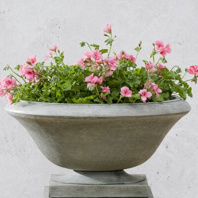 Laurinda Round Cast Stone Urn Planter Finish: English Moss
