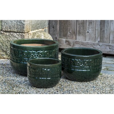 Quebrada 3-Piece Terra Cotta Pot Planter Color: Spruce