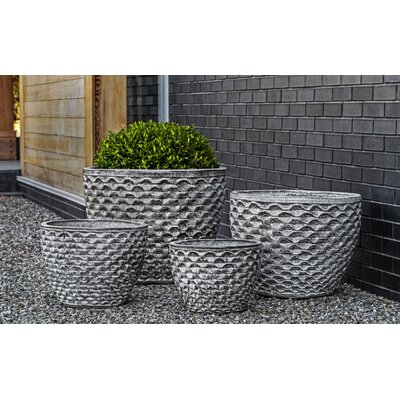 Honeycomb 4-Piece Pot Planter Set Color: Heather