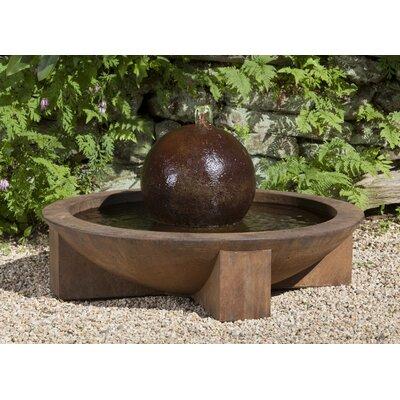 Zen Concrete Low Sphere Fountain Finish: Ferro Rustico Nuovo