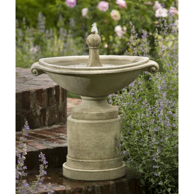Borghese Concrete Fountain Finish: English Moss
