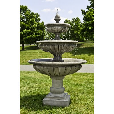 Concrete Longvue 3 Tier Fountain Finish: Travertine
