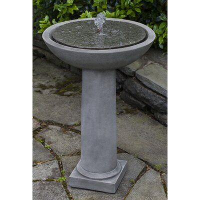 Cirrus Concrete Birdbath Fountain Finish: Brownstone