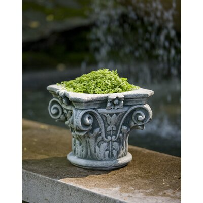 Garden Terrace Cast Stone Urn Planter Color: Nero Nuovo