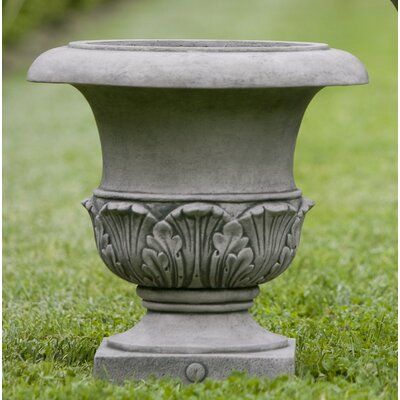 "Williamsburg Cast Stone Urn Planter Size: 22"" H x 22"" W x 22"" D, Color: Natural"