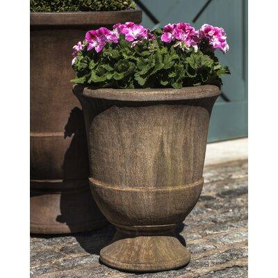 """Pascal Cast Stone Urn Planter Color: Copper Bronze, Size: 20.75"""" H x 17.25"""" W x 17.25"""" D"""