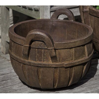 Giesen Basket Cast Stone Small Pot Planter Color: Aged Limestone