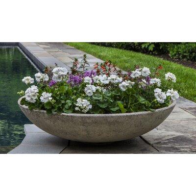 Pettaway Bowl Cast Stone Pot Planter Color: Travertine