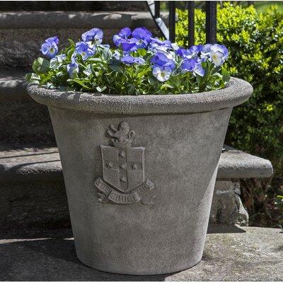 Regent Cast Stone Pot Planter Color: Ferro Rustico Nuovo