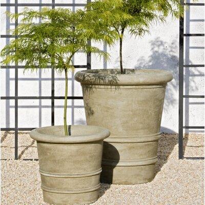 Urbino Cast Stone Pot Planter Color: Ferro Rustico Nuovo