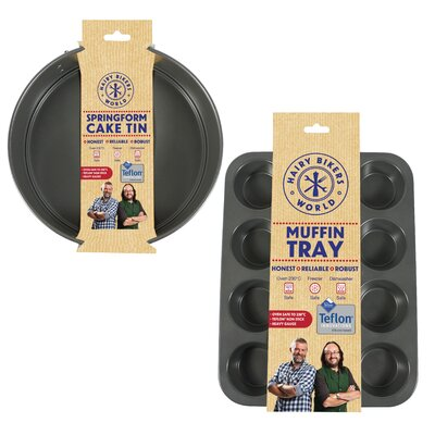 Hairy Bikers 2 Piece Non Stick Silicone Cake Pan Set